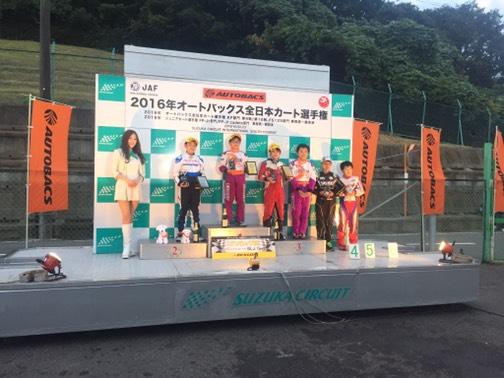 2016年全日本カート選手権東西統一戦 鈴鹿 優勝